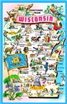 Wisconsin Map Greetings