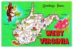 West Virginia Map Greetings