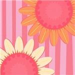 Pink Sunflower Stripe