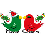 Lovebirds Merry Kissmas