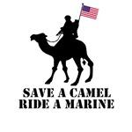 SAVE A CAMEL RIDE A MARINE USMC TEES