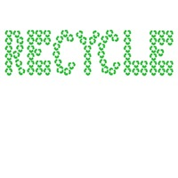 Recycle symbol clothing for those who recycle