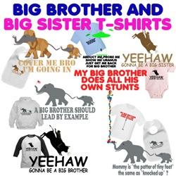 Big Sister Shirts and big Brother Shirts