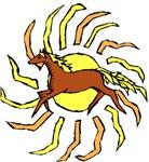 Running Horse Sun