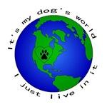 It's my dog's world