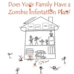 Does your family have a Zombie Infestation Plan?  Do you really want to risk your families life like that?  Show your Zombie Geek love with this great Family Zombie Plan t-shirt or Zombie gift.