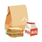 Paper Bag Milk Sandwich