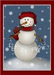 Let It Snow Snowman Christmas