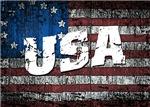 USA Patriotic Betsy Ross Flag Black Tshirts and Ap