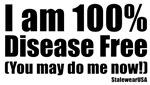 100% disease free clubbin Logo