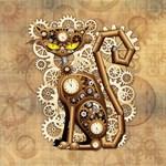 Steampunk Cat Vintage Style