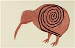 Kiwi Bird Fern Design