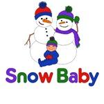 Happy Holidays Snow Baby