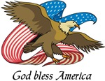 God Bless America patriotic t-shirts