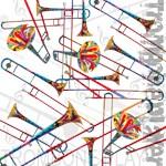 Trombone Gifts Colorful Trombone Art