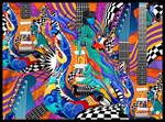 Pop Art Electric Guitar Art Print