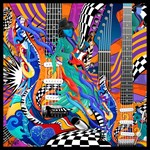Electric Guitar Musician Art Print