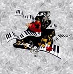 Piano Music Notes Art Print