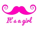 It's a girl with pink mustache