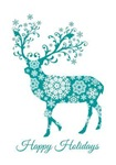 Teal Christmas deer
