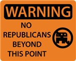 No Republicans Beyond this Point