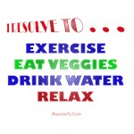 I Resolve To . . . Healthy Habits!
