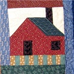 Carolyn's Quilted Log Cabin