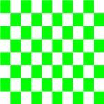 Neon Green Checkerboard