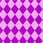 Pink and Purple Diamond Checkerboard