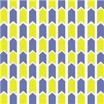 Yellow and Cornflower Blue Panels