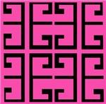 Hot Pink and Black Tile