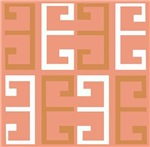 Coral and White Tile