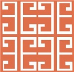 Orange and White Spanish Tile