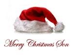 Christmas T-shirts and gifts. Merry Christmas Son.