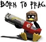 Linux Tux Born to Frag