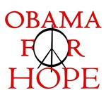 Obama T-shirts. OBAMA FOR HOPE.