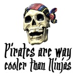 Pirates t-shirts. Pirates cooler than Ninjas.