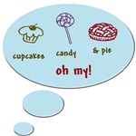CUPCAKES,CANDY AND PIE