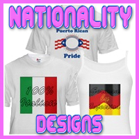 Nationality Designs for Everyone T-Shirts & Gifts