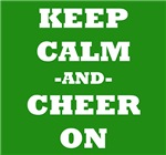 Keep Calm And Cheer On (Green)