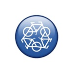 Recycle Bicycle Blue