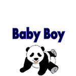 Baby Boy with cute Panda Bear Picture