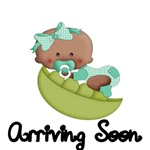 ARRIVING SOON. WITH AFRO AMERICAN BABY