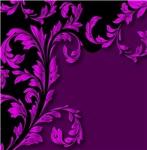 Elegant Purple and Black Leafy Flourish