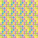 Purple,Yellow, And Green Polka Dots