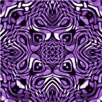Purple and Black Tribal Design