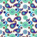 Pretty Blue Paisley Pattern