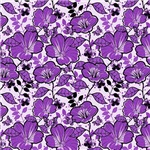 Large Purple Flowers Pattern