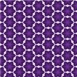 Purple Six Point Star Pattern