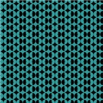 Turquoise and Black Circles Pattern